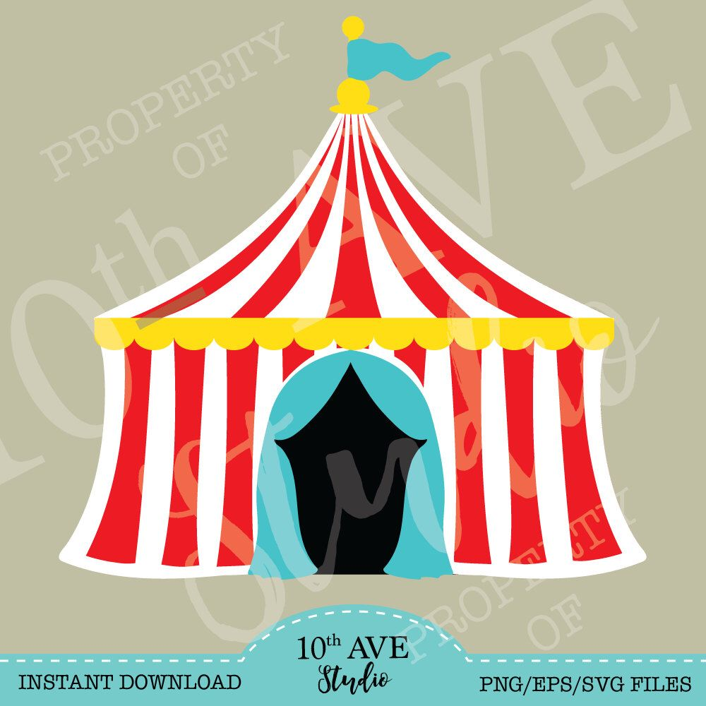 Carnivalcircusbig Top Tent Svg Png Eps Dxf Clipart For Etsy In 2021 Carnival Tent Circus Theme Carnival Birthday Party Theme