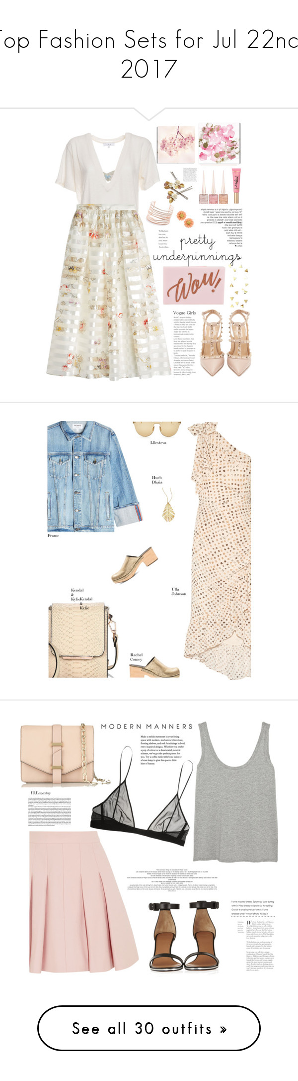 """""""Top Fashion Sets for Jul 22nd, 2017"""" by polyvore ❤ liked on Polyvore featuring Agent Provocateur, IRO, Oliver Gal Artist Co., Fendi, Valentino, Ted Baker, Christian Louboutin, Too Faced Cosmetics, Alexis Bittar and Ulla Johnson"""