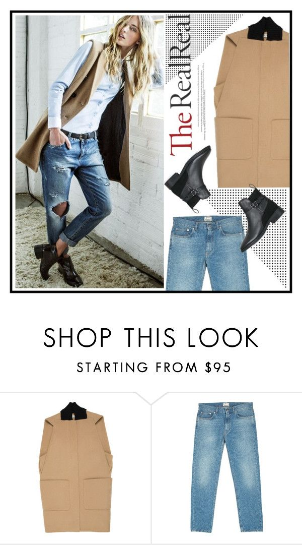 """""""Fall Style With The RealReal: Contest Entry"""" by sportsonista ❤ liked on Polyvore featuring Balenciaga, Acne Studios and Topshop"""