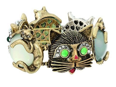 So silly yet so purr-ty : )   Betsey Johnson Pet Shop Vintage Kitty Large Stretch Bracelet