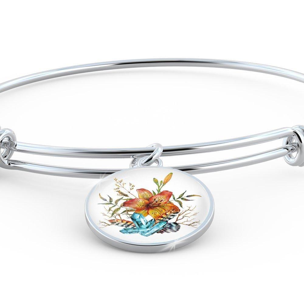 Tiger lily bouquet v bangle bracelet tiger lily bouquet and