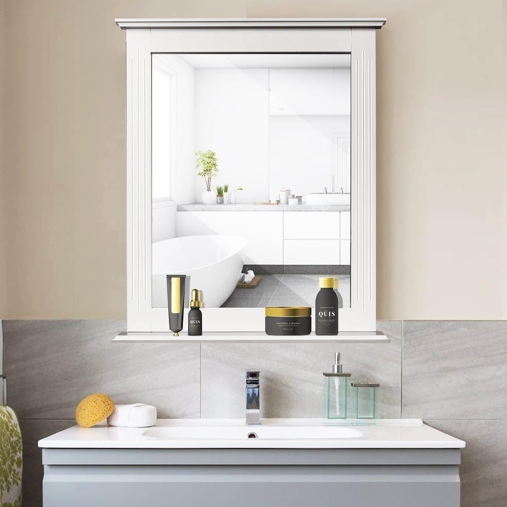 Mirrors Mirror Wall Bathroom Mirror With Shelf Bathroom Mirror With Shelf [ 1000 x 1000 Pixel ]