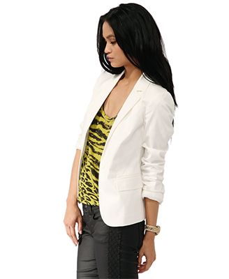 Classic Notched Lapel Blazer | FOREVER21 - 2000035220