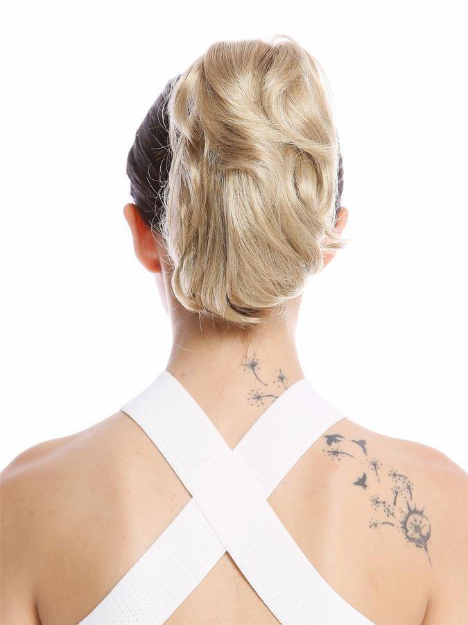 Hair Piece Ponytail short Voluminous Wavy Light Ash Blond 20cm 1028-V-24 4260451455279  eBay#Voluminous#Wavy#Light #lightashblonde