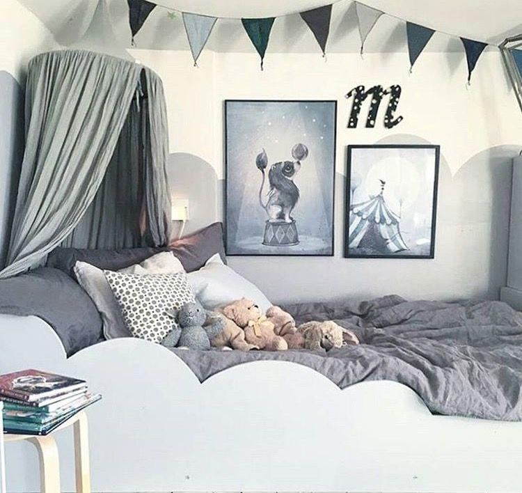 Chambre d\'enfant mixte Bébé Décoration grise | // KIDS ...