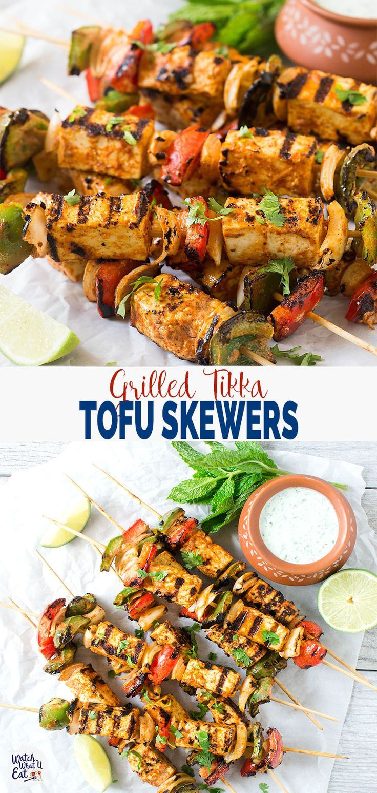 Grilled Tofu Tikka Skewers (Or Paneer Tikka) | Super-Easy & Healthy
