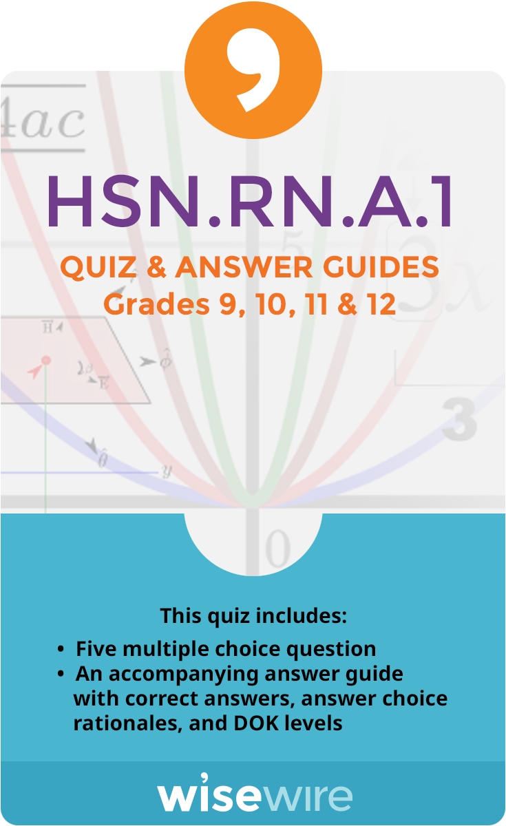 HSN.RN.A.1 – Quiz and Answer Guide