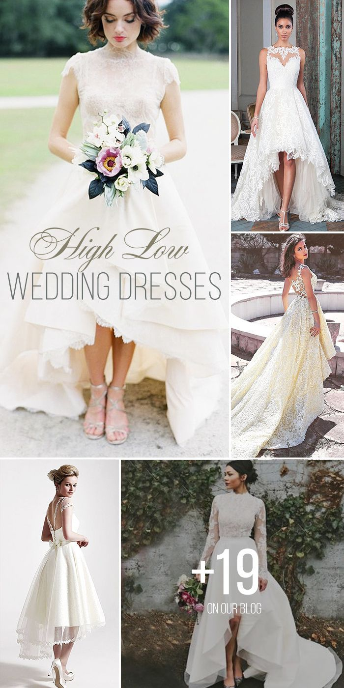 Trend Of The Year High Low Wedding Dresses dress Pinterest
