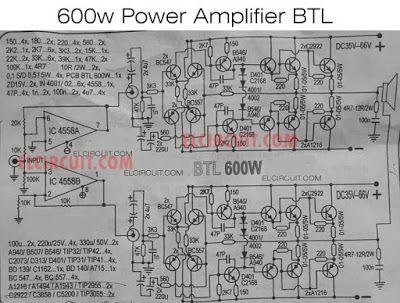 Diy Power Amplifier Project 600w Btl Tone Subwoofer Circuit