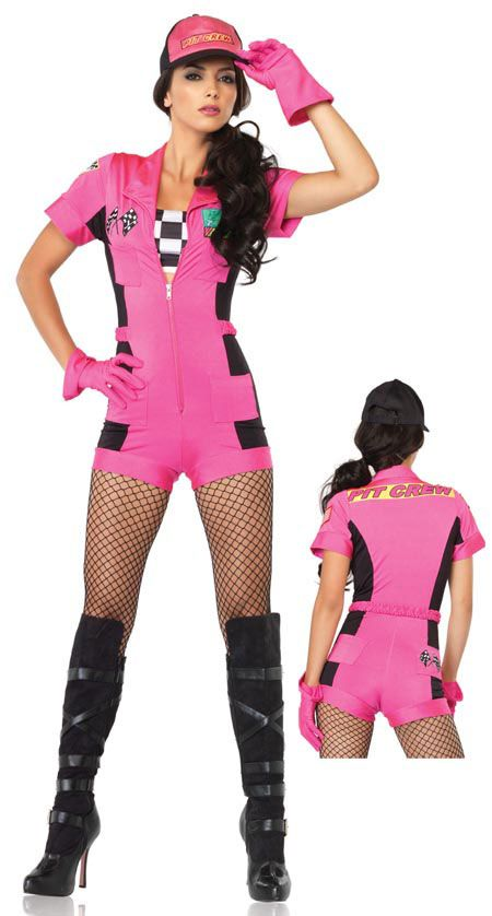 4a1414df45b2af Race Car Pit Crew Costume Adult