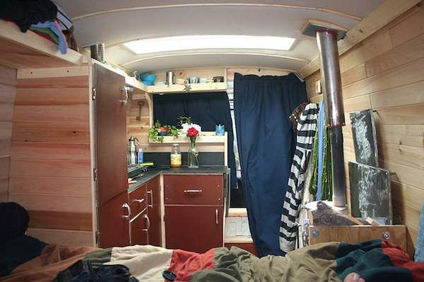 See How This Work Van Was Converted Into A Solar Stealthy Housetruck With Tiny House Touch For Cheap RV Living In The City Or Anywhere Off Grid