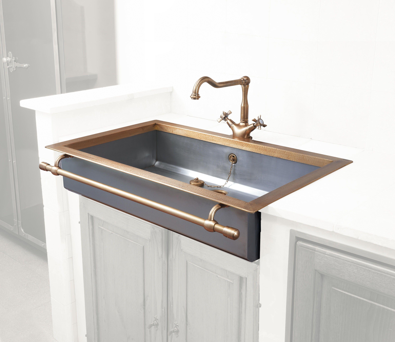Semi Recessed Sink Designer Kitchen Sinks From Officine Gullo