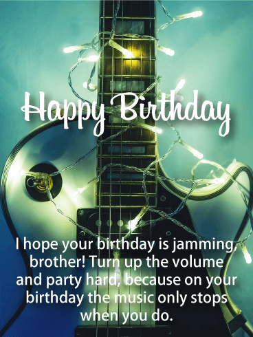 Turn Up The Volume! Happy Birthday Card For Brother Turn