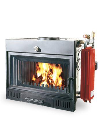 Chimenea de encastre para calefacci n con radiadores - Estufa de lena para radiadores ...