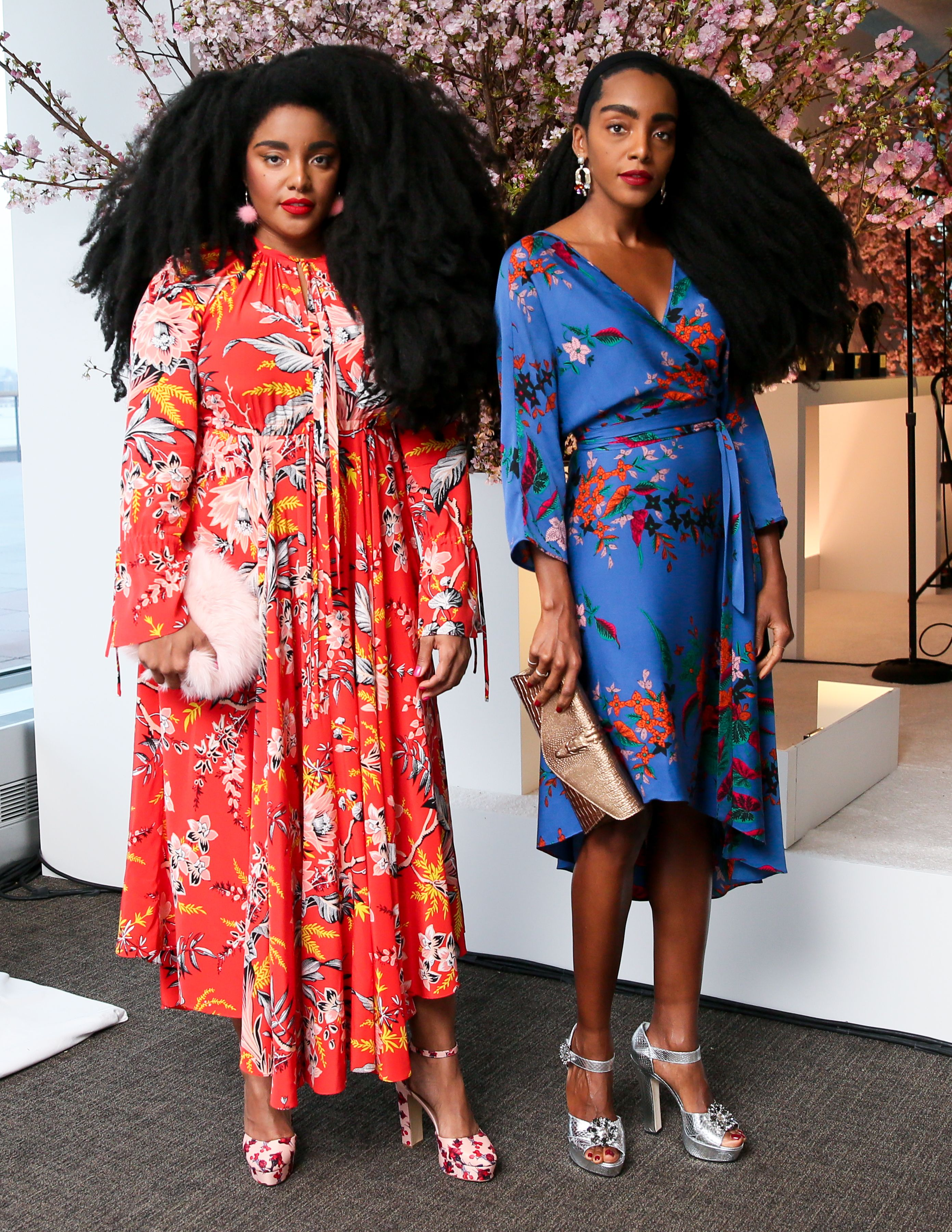 830ab8e08 TK Wonder and Cipriana Quann wear the Bethany Dress and the Eloise ...
