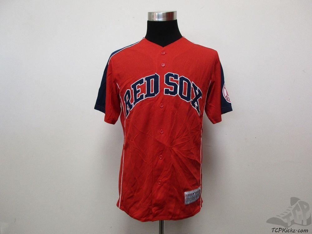 MLB Boston Red Sox Button Up SEWN Dustin Pedroia #15 Baseball Jersey sz M Medium #GenuineMerchandise #BostonRedSox #tcpkickz
