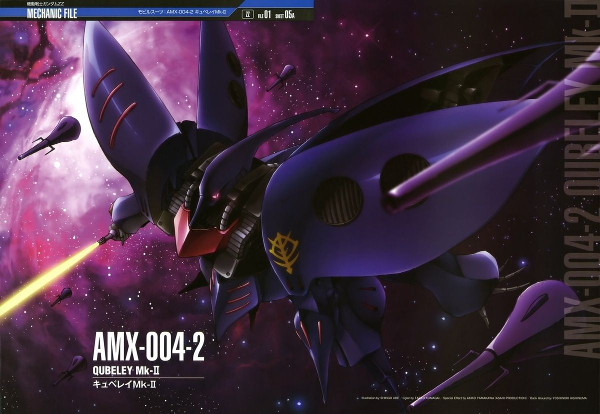 The Amx 004 Amx 005 Qubeley Mk Ii キュベレイmk Kyuberei Mk