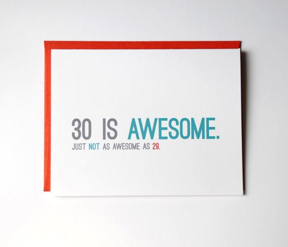 30th Birthday Card Thirtieth Funny By RowHouse14
