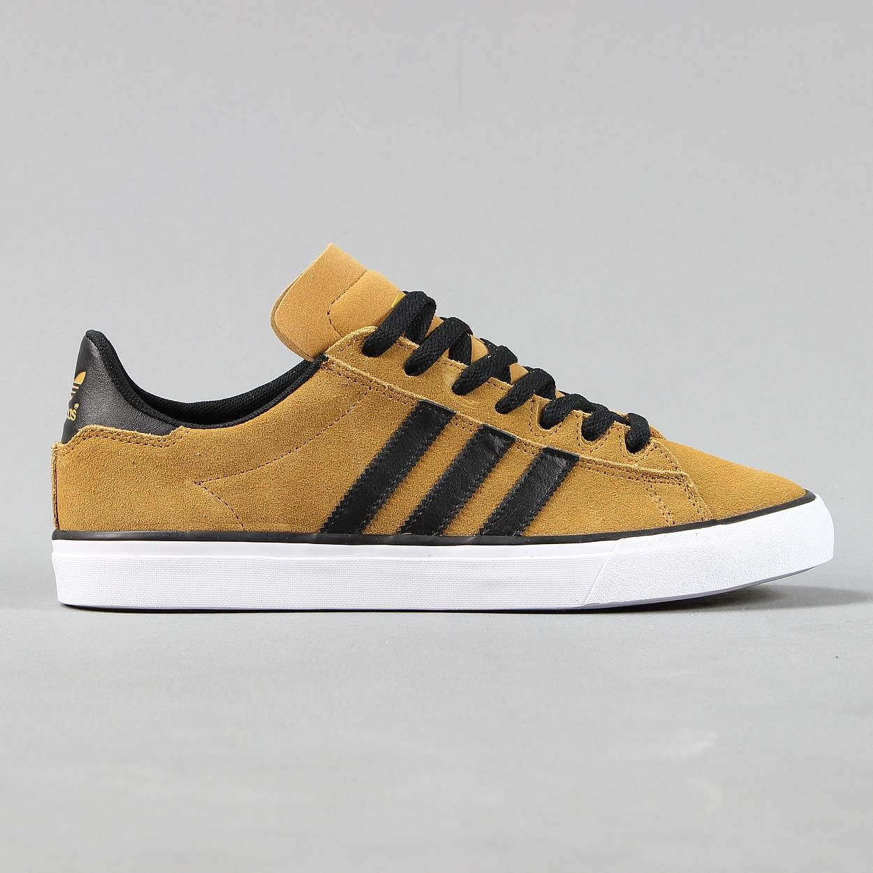 #Adidas originals skateboarding campus vulc ii brown black #white mens  #trainers, View