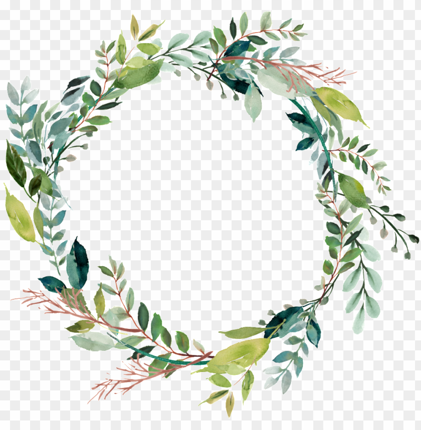 Leaves Vector Ring Floral Wreath Clip Art Png Image With Transparent Background Png Free Png Images Wreath Clip Art Floral Vector Png Flower Frame Png