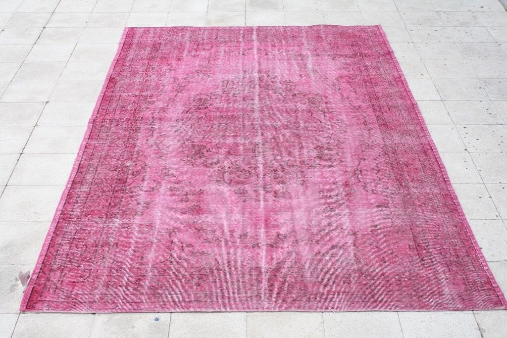 Over-dyed Vintage Rug 6.5 X 9.8 FT ( 200 X 300 CM )  by galleryboga on Etsy https://www.etsy.com/listing/236334811/over-dyed-vintage-rug-65-x-98-ft-200-x