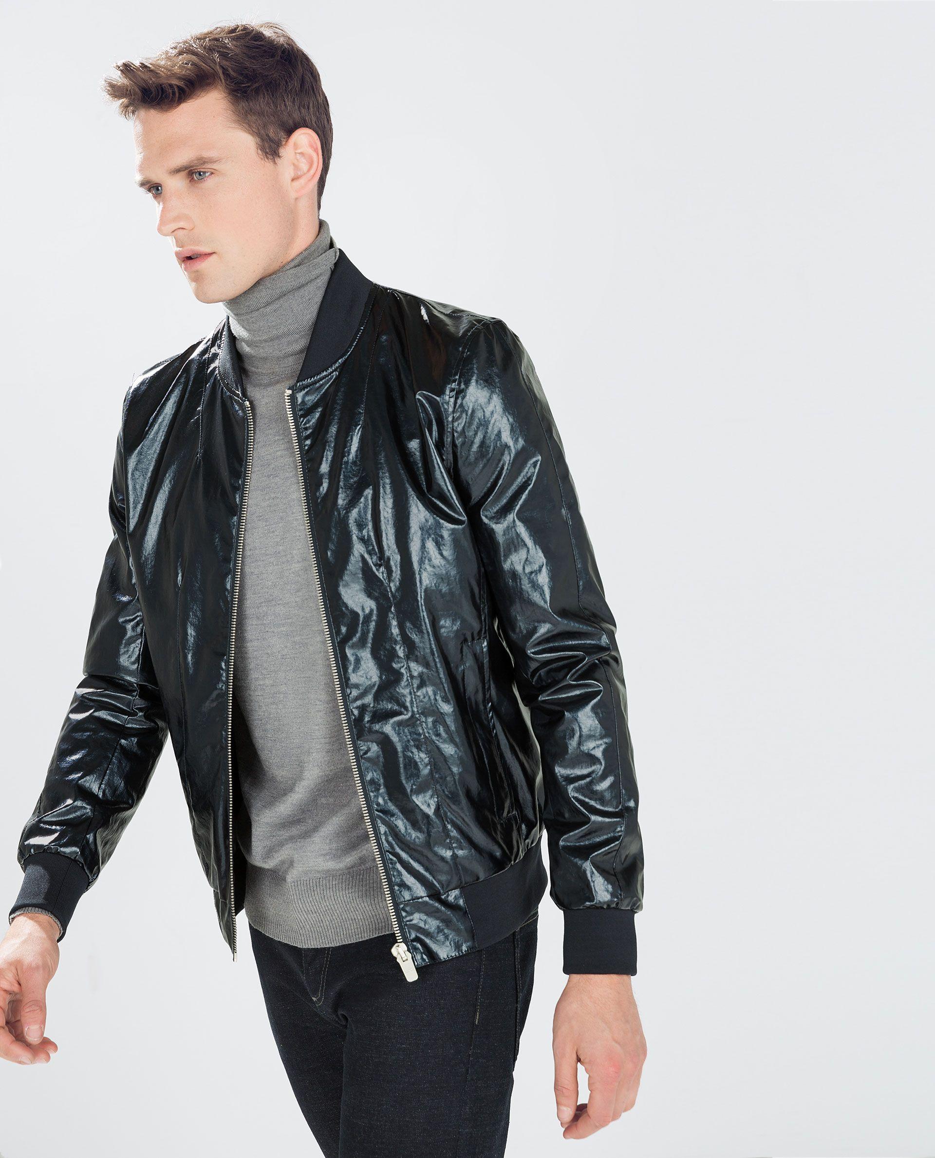 Shiny Bomber Jacket Jackets Man Zara Germany Mens Outdoor Jackets Bomber Jacket Jackets [ 2379 x 1920 Pixel ]