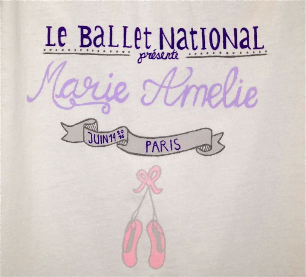 Hand painted #ballet #tshirt for #kids #lesradisbleus  #hand #painted #personalized