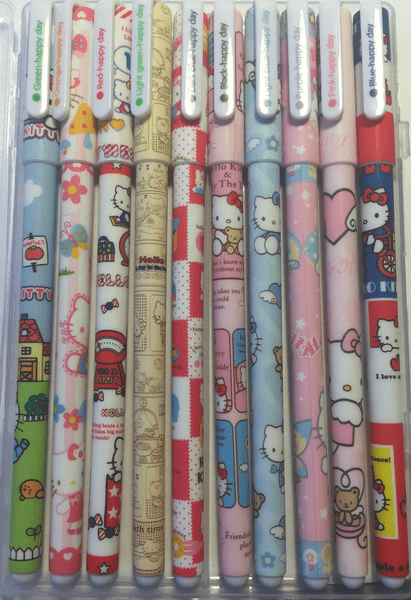 Happy Pens 10-pack Hello Kitty Special Edidtion Present