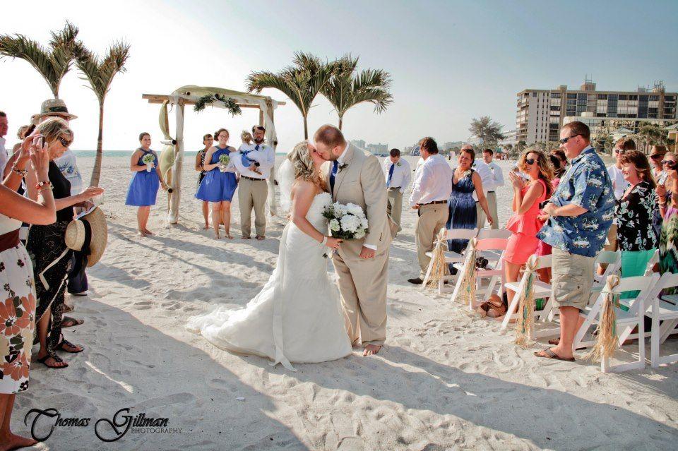 Beach wedding ceremony. St Pete Beach, florida weddings