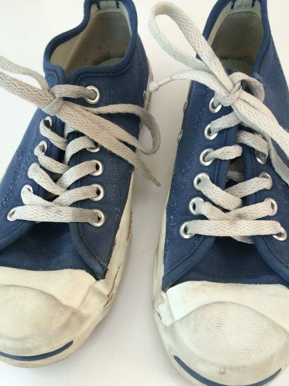 1c0ee39b0fa7 Converse Jack Purcell USA 60 s blue tennis shoes by mightyMODERN ...