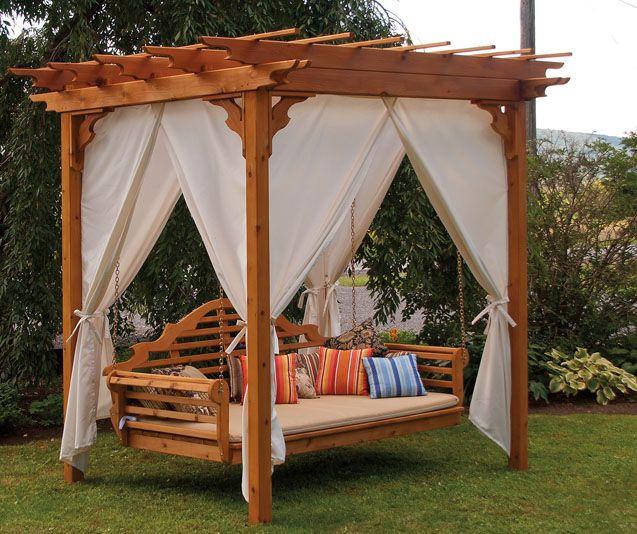 A L Furniture Outdoor Bed Swing Cedar Pergola Pergola Swing