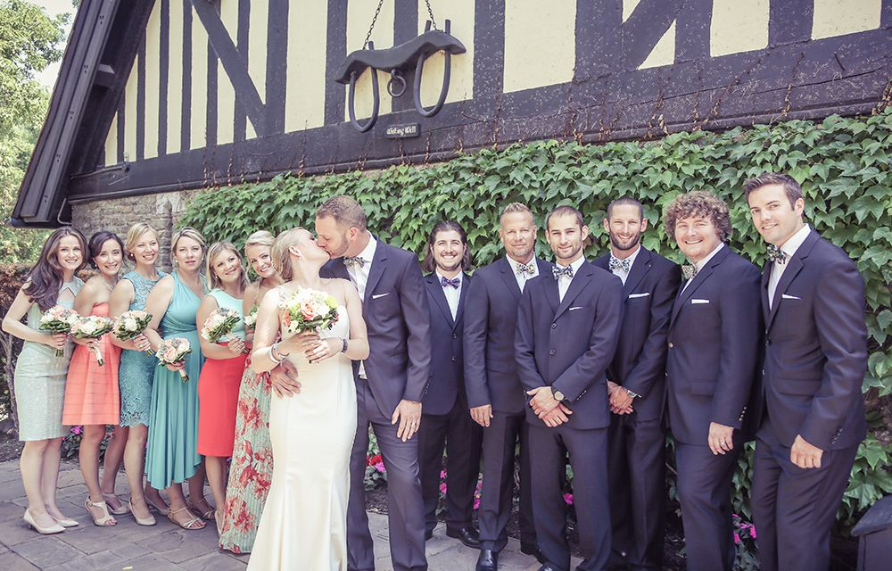Wedding party at Old Mill Toronto | Vintage Wedding Photography ...