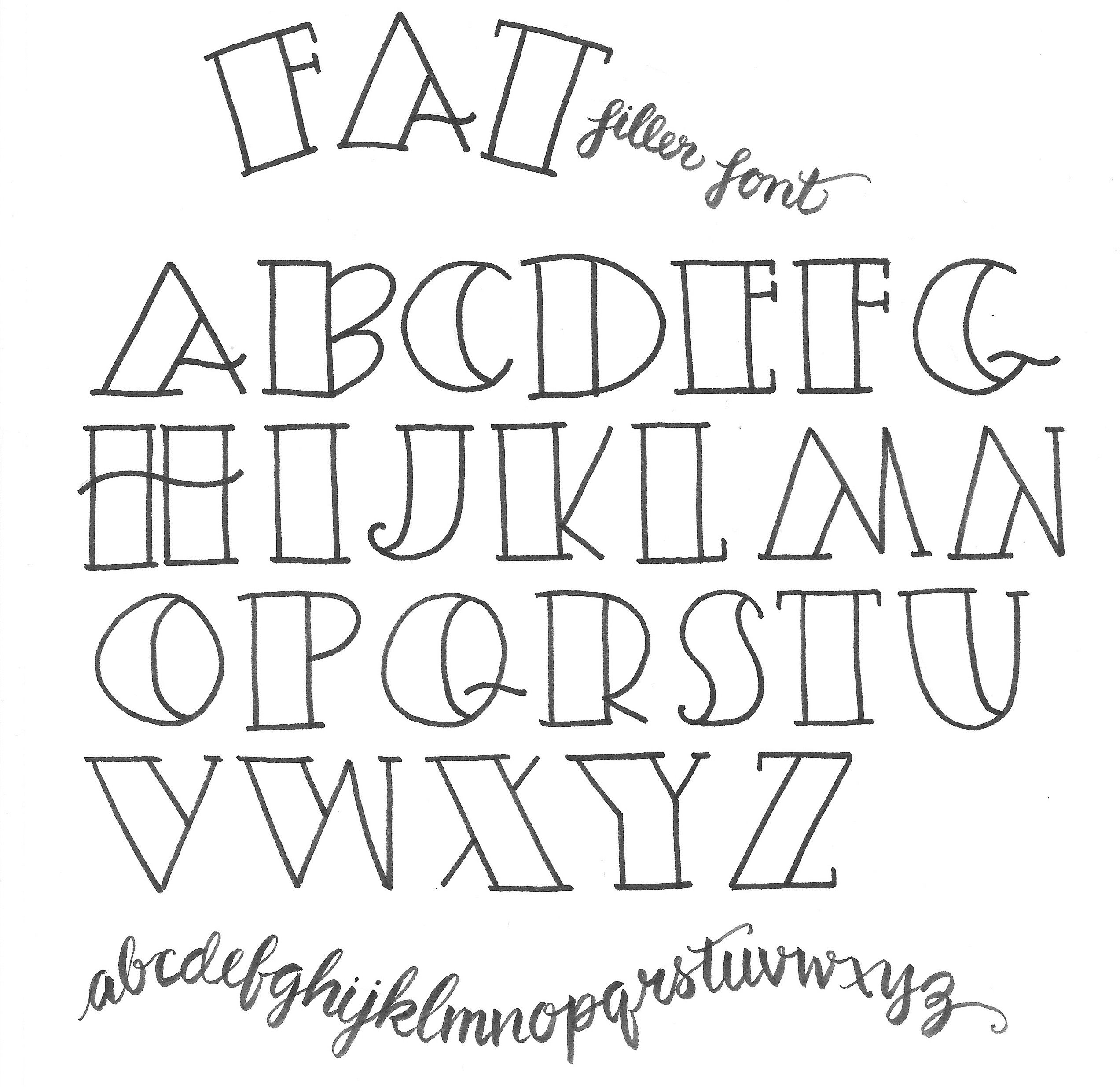 Mariebrowning Simple Lettering Fat Filler Font