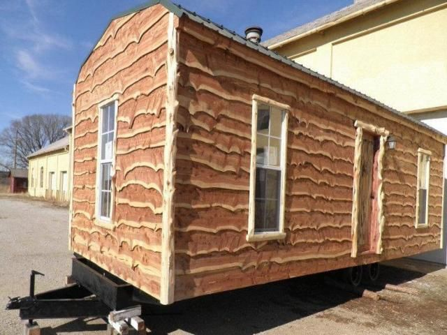 Rustic Cedar Mobile Cabin Tiny House Listings Tiny Houses For Sale Cabin Cabin Living