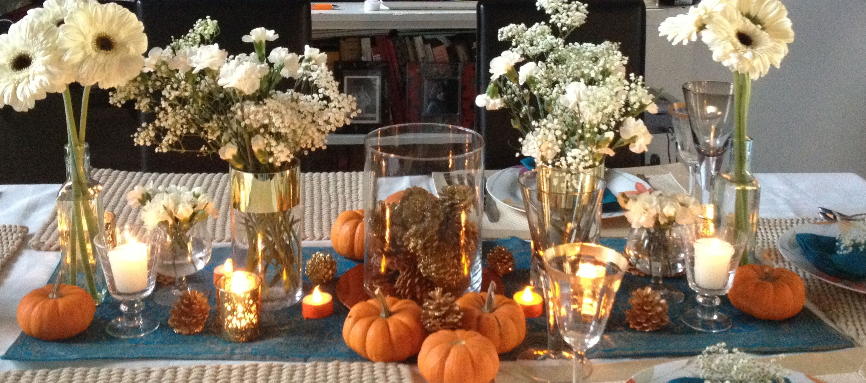 Cobalt Inspired Thanksgiving Table