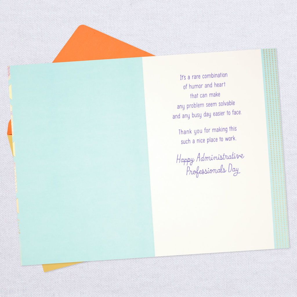 Your Humor And Heart Administrative Professionals Day Card Administrative Professional Day Admin Professionals Day Cards