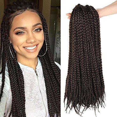 3s Box Braids Hair 18 Inch 6 Packs