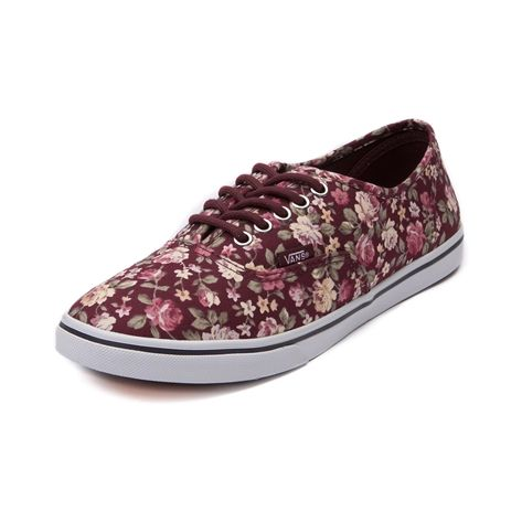 vans shoes with flowers. shop for vans authentic lo pro floral skate shoe in maroon at journeys shoes. shoes with flowers k