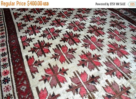 40% OFF SALE Vintage Moroccan Tribal Carpet by TEKKARUG on Etsy