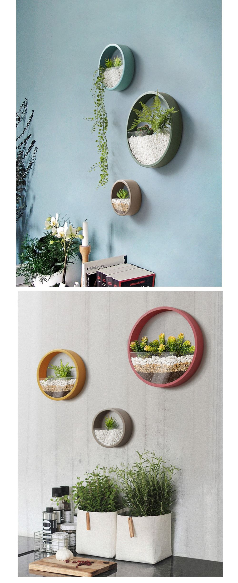Round wall planter crafting pinterest geometric wall art