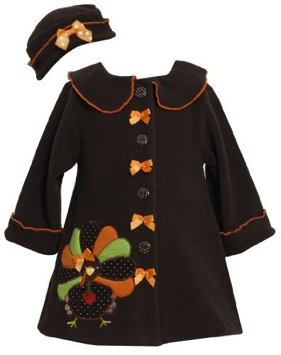 Bonnie Baby Baby-Girls Infant Christmas Tree Applique Coat and Hat