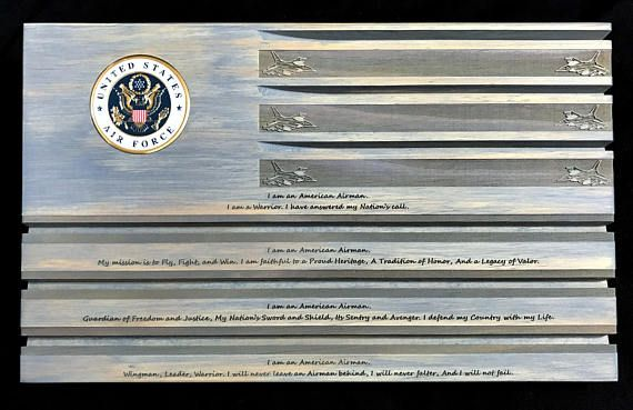Gray Air Force Challenge Coin Display - Coin Holder - Airman's Creed