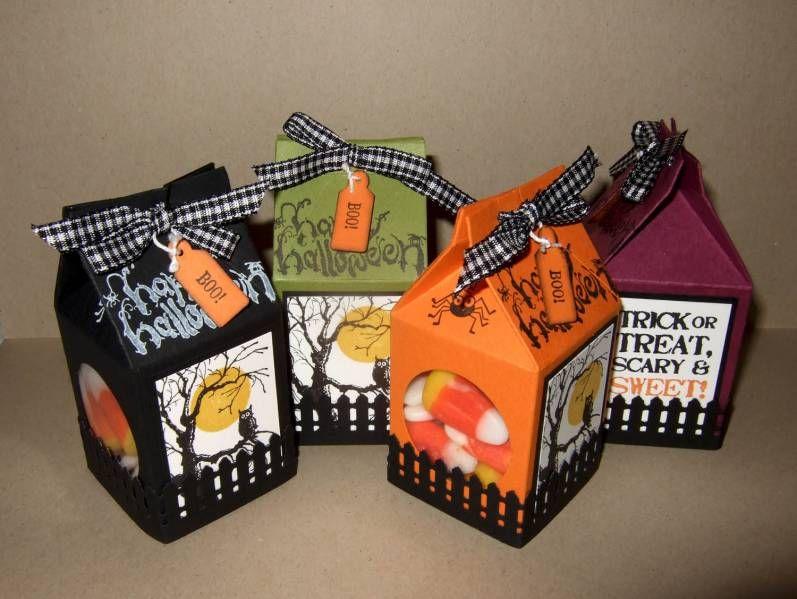 halloween treat mini milk cartons boites pinterest carte halloween boite cadeau carton et. Black Bedroom Furniture Sets. Home Design Ideas