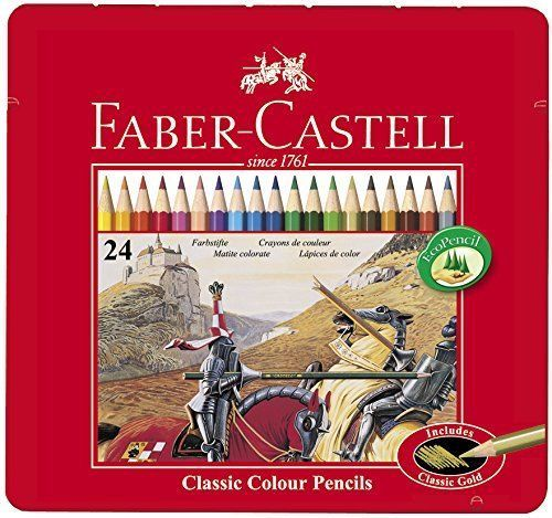 Faber-Castell-Classic-24-Colour-Pencils-in-Metal-Tin-Box