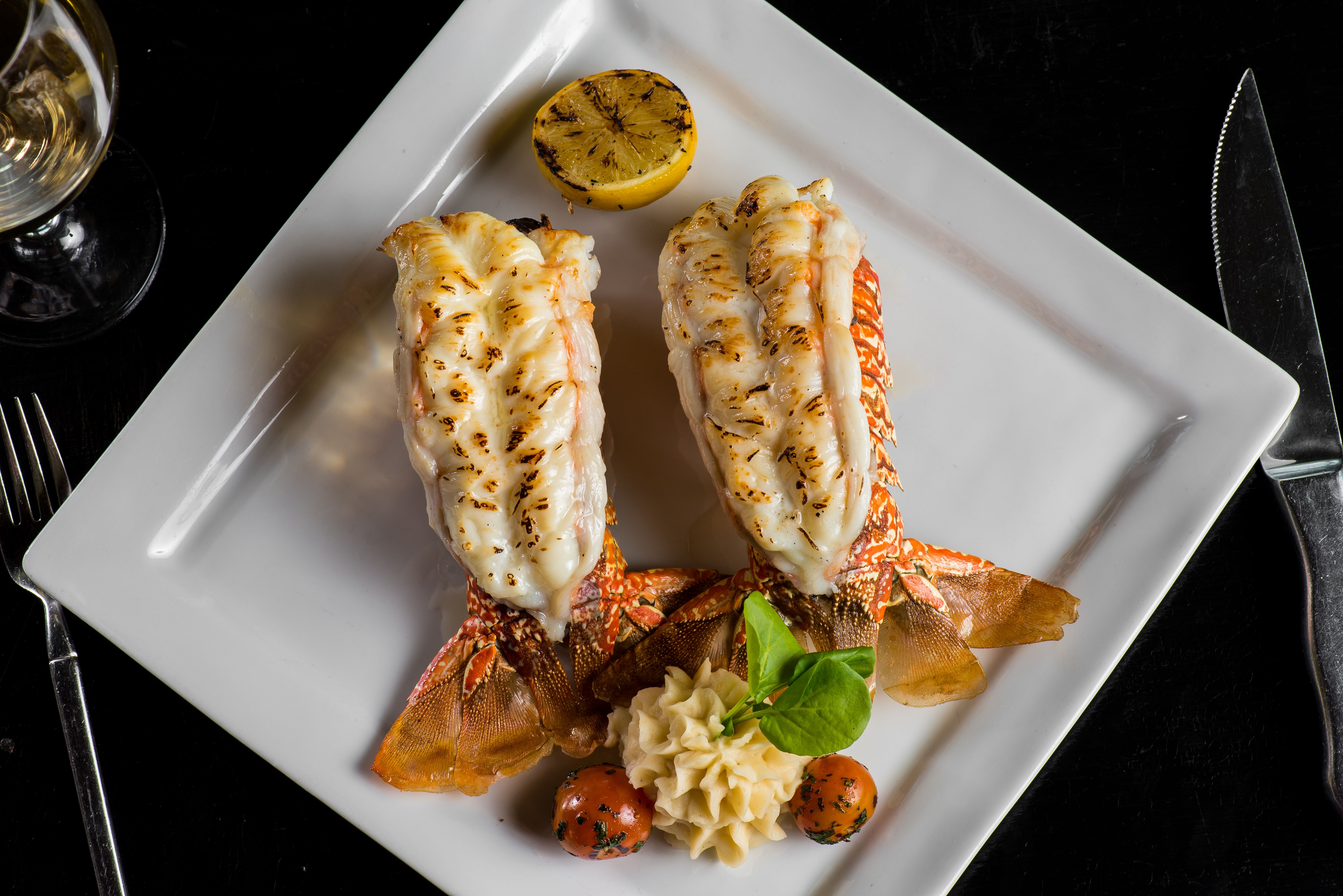 Miraculous Twin Lobster Tails Cold Water Tail Served With Drawn Butter Download Free Architecture Designs Grimeyleaguecom