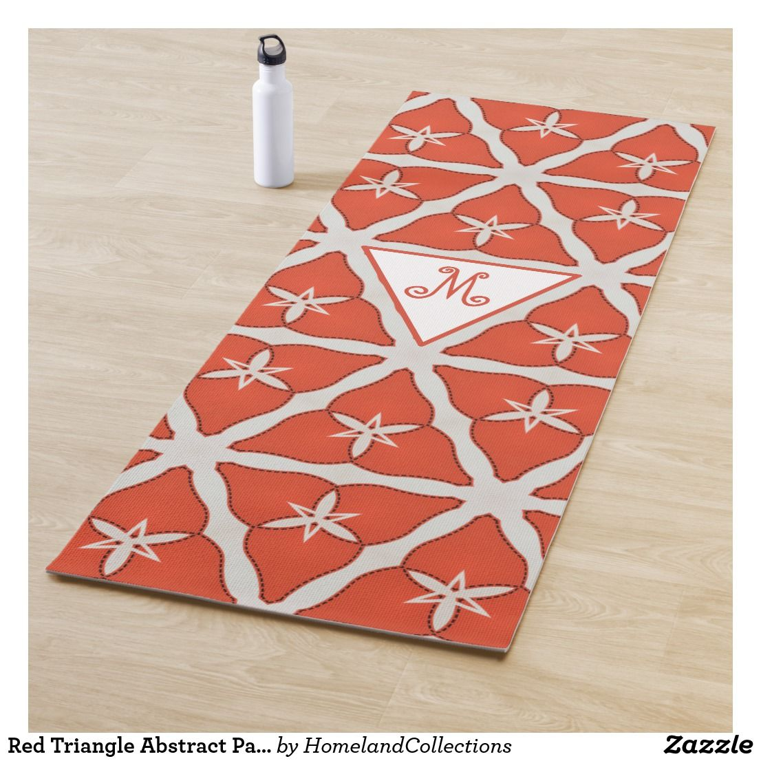 Red Triangle Abstract Pattern Yoga Mat Zazzle Com Abstract
