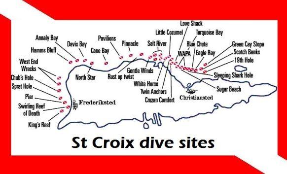 Map Of St Croix Dive Sites US Virgin Islands If Youre Looking - St croix us virgin islands map