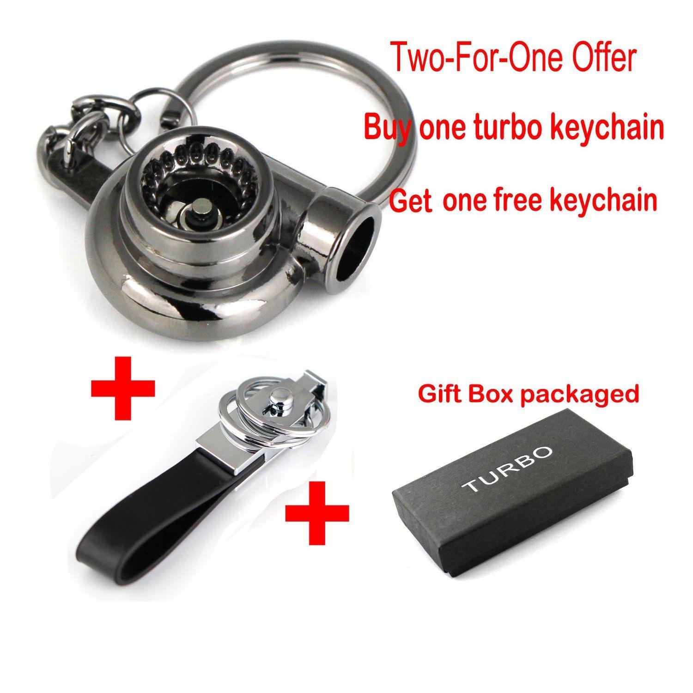 Amazon.com: Maycom® Creative Spinning New Turbo Turbocharger Keychain Key Chain Ring Keyring Keyfob (Gunmetal Black): Automotive