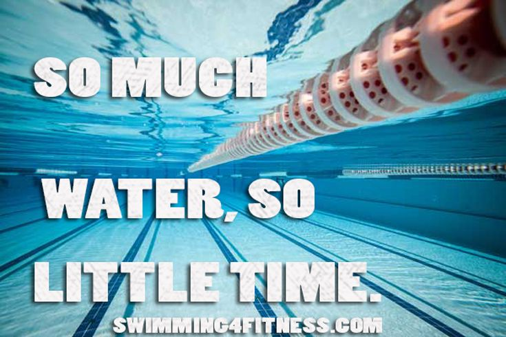 So much water so little time competitive swimming