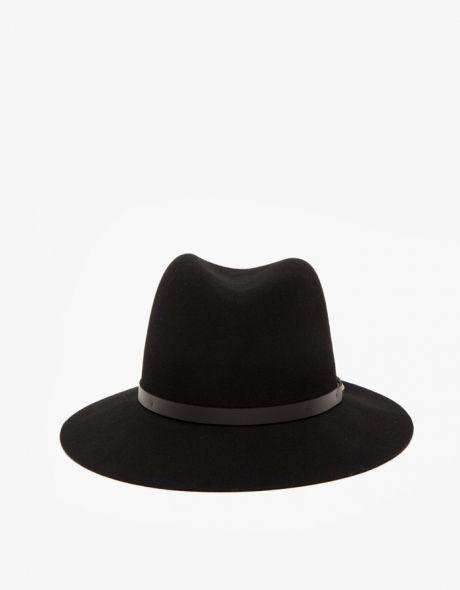 Floppy Brim Fedora in Black